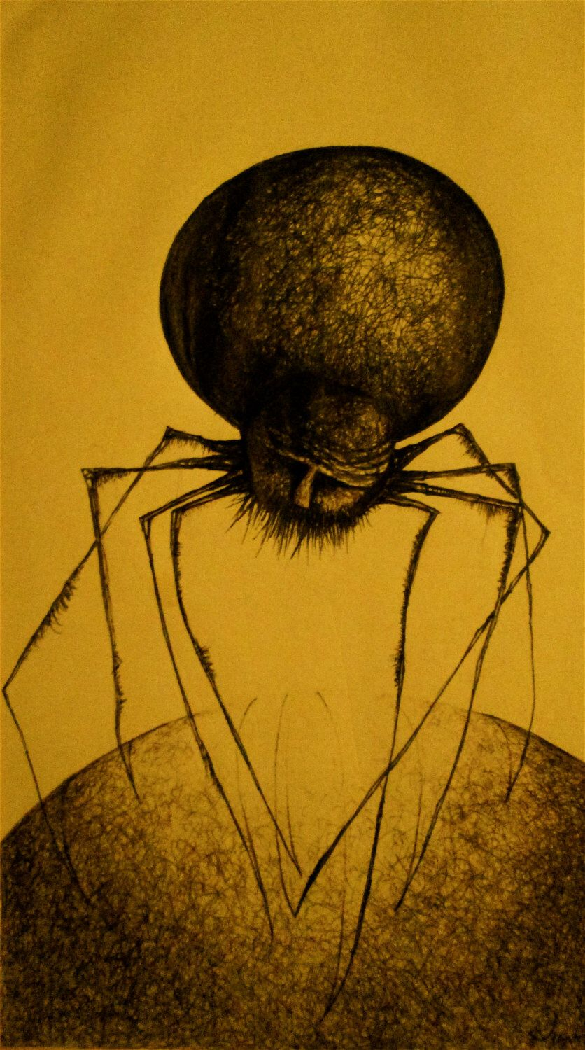 Spider Art, Prints, Wall Art, Art Prints, Spider Drawing, Pen and ...