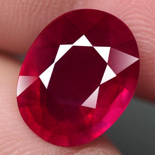 10.66CT.GORGEOUS! OVAL FACET TOP BLOOD RED NATURAL RUBY MADAGASCAR  | eBay