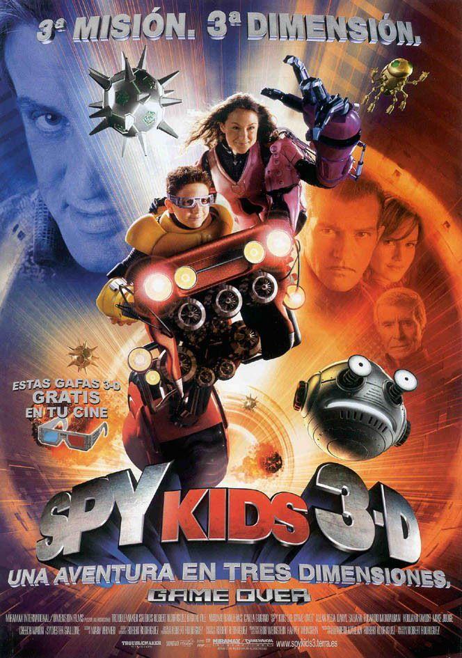Cartel Español De Spy Kids 3 D Game Over Spy Kids Mini Espias Películas Infantiles