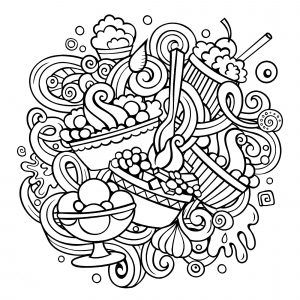 cupcakes and cakes  free printable coloring pages for kids in 2020  coloring pages free