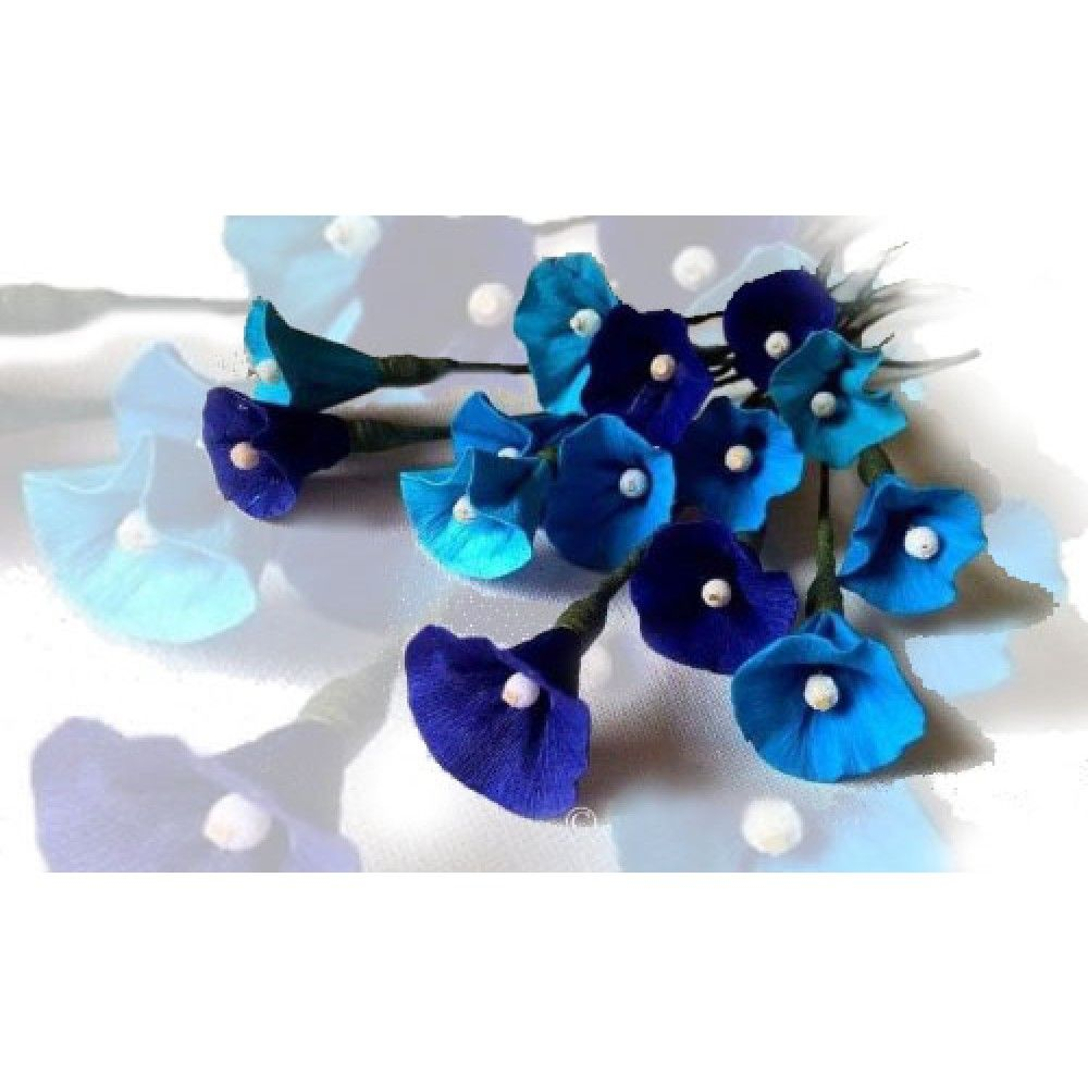 Blue Combination Crape Paper Flower Namus Creations Quilling