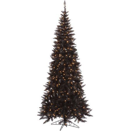 382386d431f Vickerman 9  Black Fir Artificial Christmas Tree with 700 Clear Lights