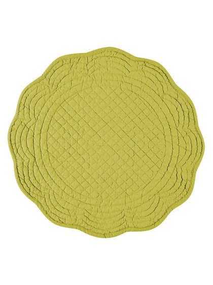 Round Boutis Cotton Placemats Set Of 4 By Kaf Home At Gilt Placemats Placemat Sets Cotton Quilts