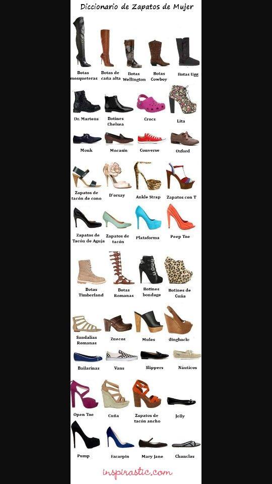 Dama 2019 Tipos Calzado De Para Pinterest Zapatos En Oft17qtw