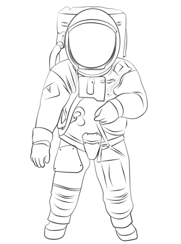 Buzz Aldrin On The Moon Coloring Page From Astronauts Category