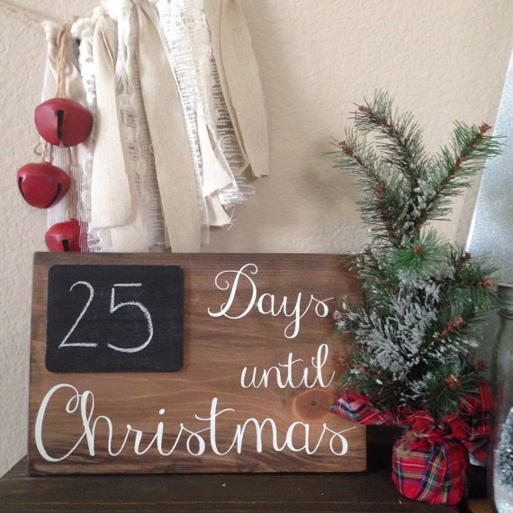 days until christmas countdown board sign by sawyerleighboutique - Countdown Till Christmas Decoration