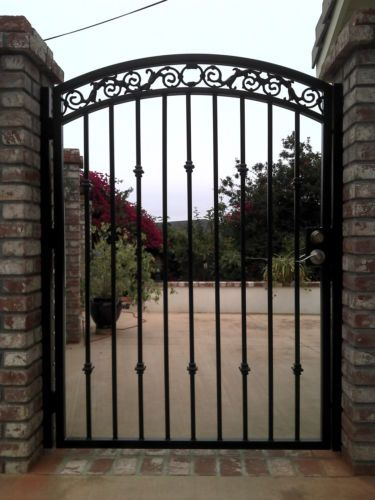 Metal Estate Gate On Sale Custom Discount Wrought Iron Garden Art Ornamental Ebay Puertas De Hierro Fachadas De Casa Rusticas Verjas Para Casas