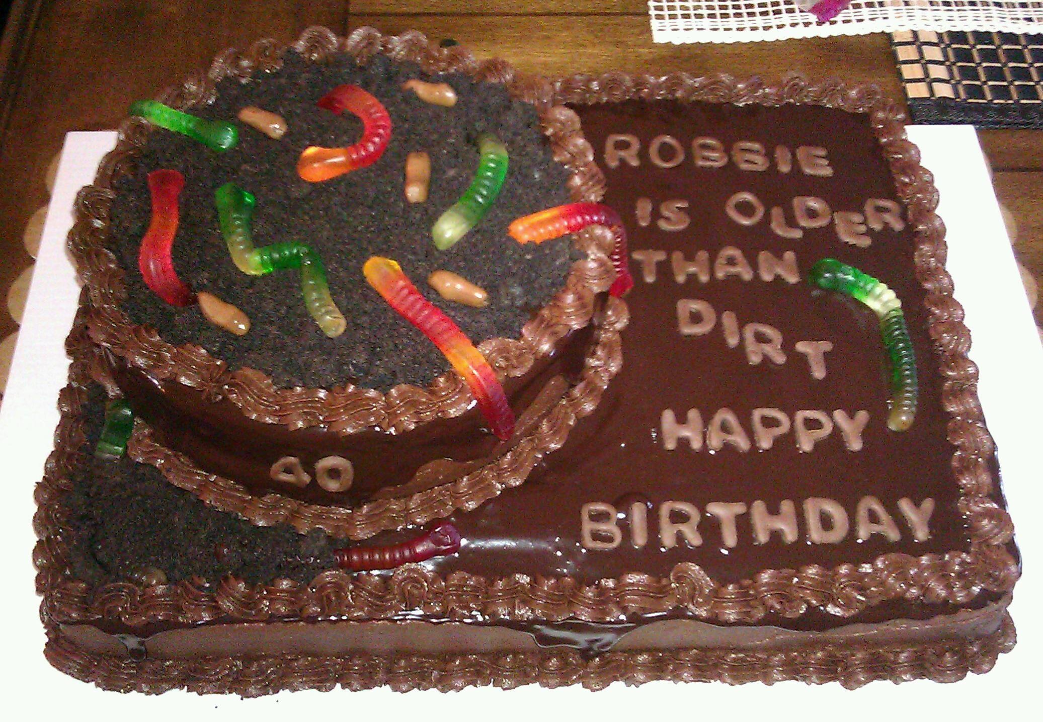 Older Than Dirt Cake Birthday Sheet Cakes Cake Dirt Cake