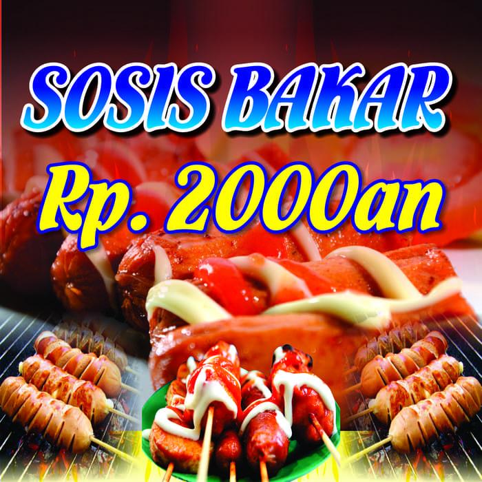 contoh banner sosis bakar cdr in 2020 best banner design banner design best banner pinterest
