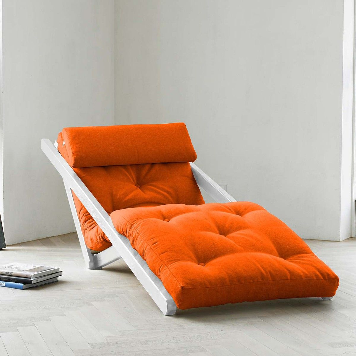New Futons For The College Dorm Small Out House Or Children S Guests Fab Com Figo Orange White