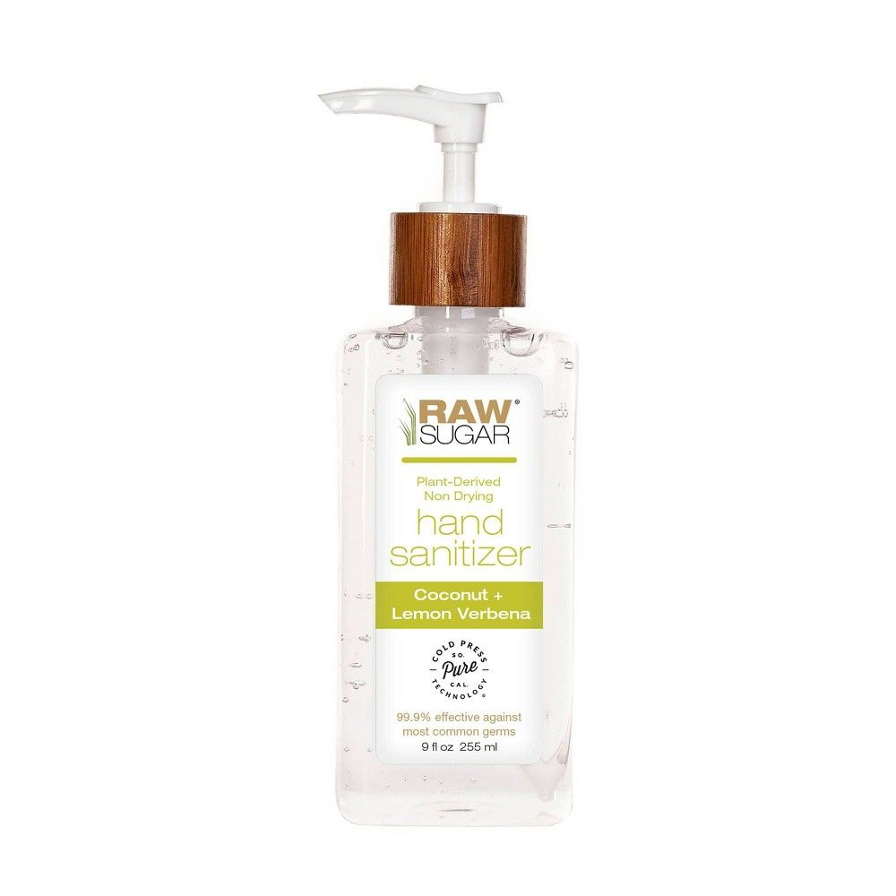 Raw Sugar Coconut Lemon Verbena Hand Sanitizer 9 Oz Hand