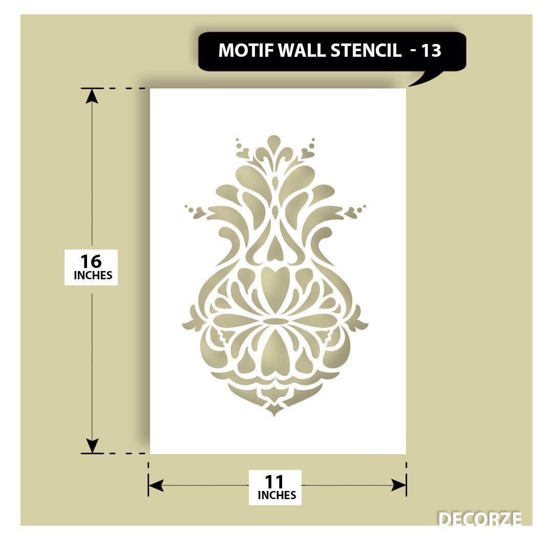 Motif Stencil, Damask Pattern Wall Stencils by DecorZe on Etsy https ...