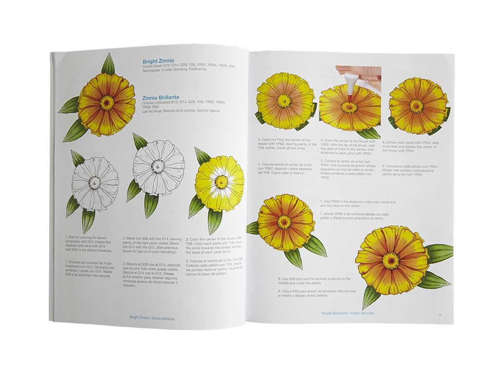 Page From Coloring Foundations Collection Flowers Book By Marianne Walker
