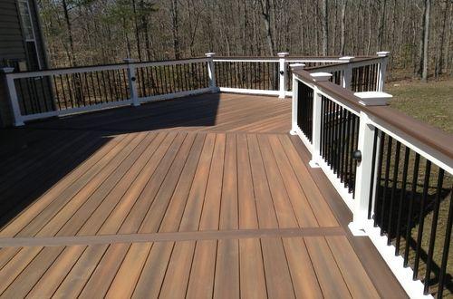 Fiberon Composite Decking Ipe Deck By Rj Fisher Construction Company Deck Designs Backyard Building A Deck Deck Design