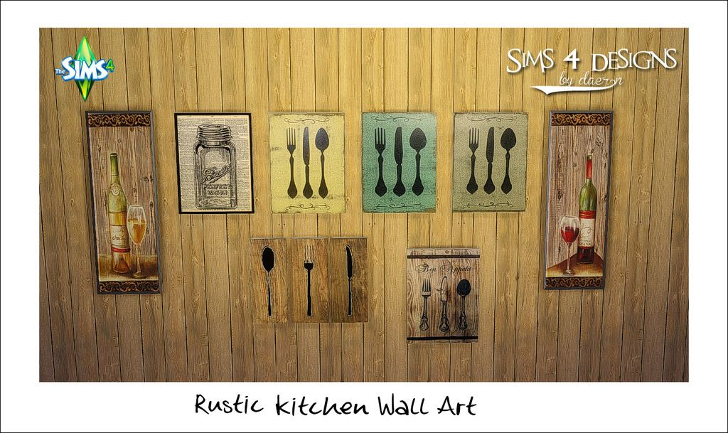 Sims 4 Designs: Rustic Kitchen Wall Art | Sims 4 house items ...