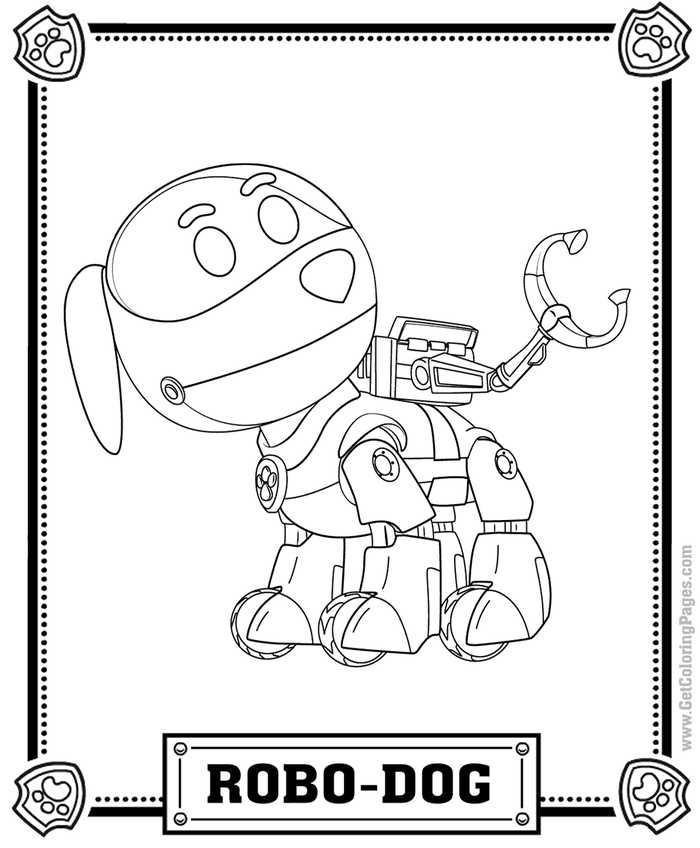 Robo Dog Paw Patrol Coloring Page This Coloring Page Coloring Sheet Will Would Make Paw Patrol Coloring Pages Paw Patrol Coloring Toy Story Coloring Pages