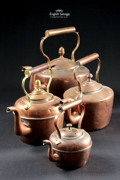 Attractive Copper Kettles for Displays