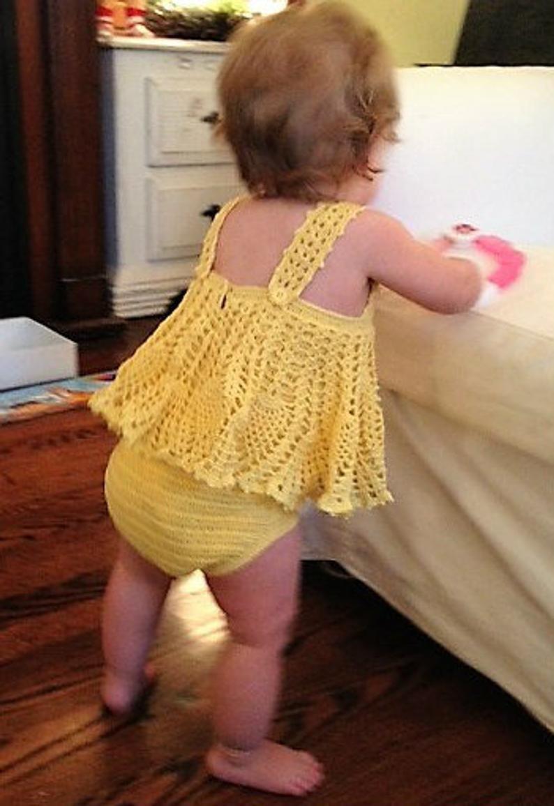 Photo of Baby Girl Crocheted Sundress Onesie