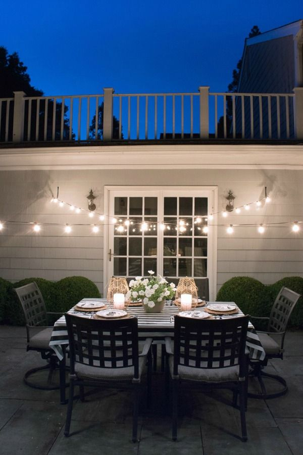 String Lights D Over Our Patio Create A Dreamy Outdoor Dining Spot
