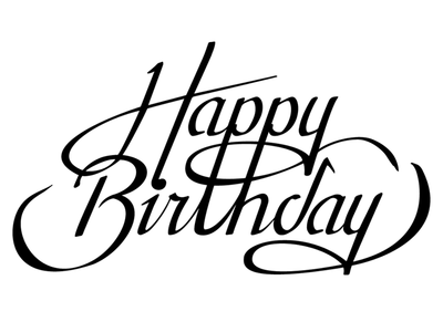 happy birthday typography lettering calligraphy pinterest rh pinterest com happy birthday logos free happy birthday logos for facebook