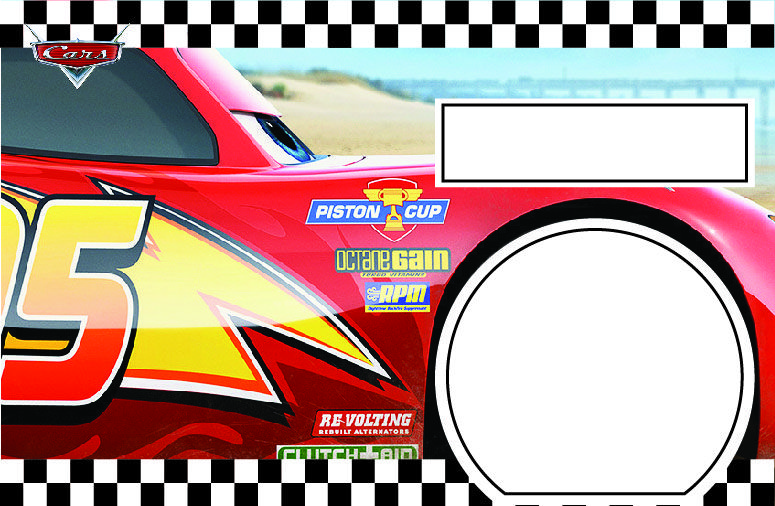 Download FREE Printable Disney CARS Lightning McQueen Birthday Invitation Template