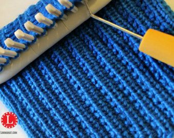 Loom Knitting Stitch PATTERN : The Diagonal with Video Tutorial