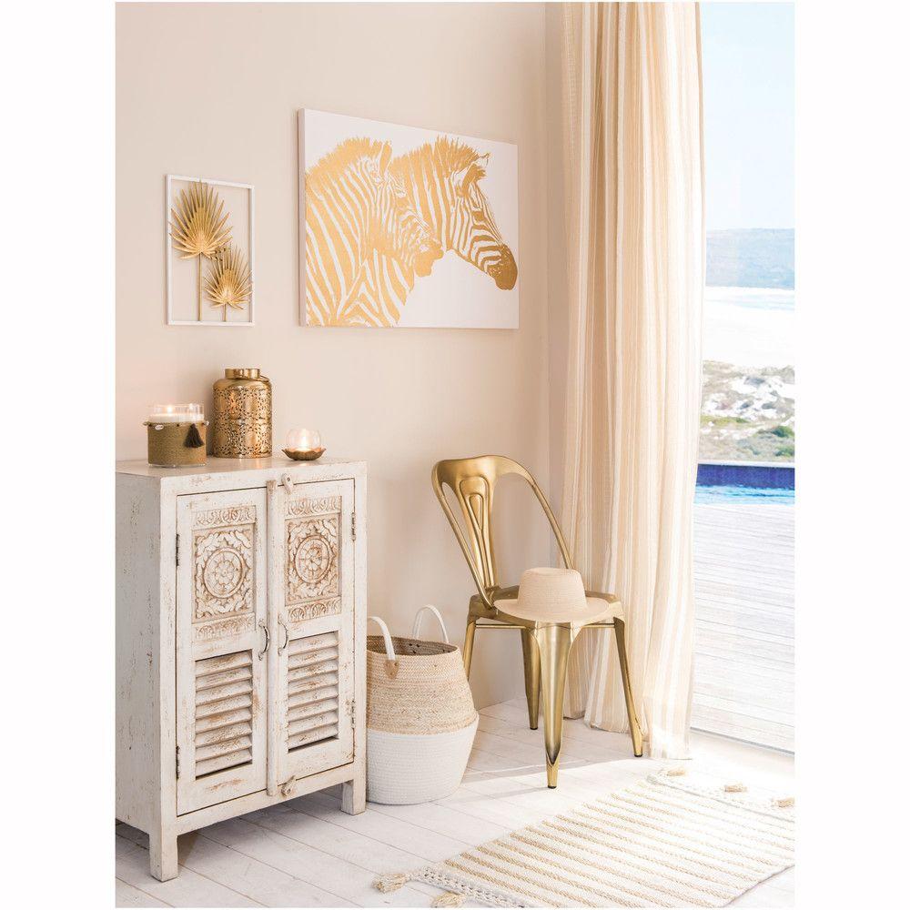 Toile Imprim E Z Bre Dor 90×60 Maisons Du Monde Collection