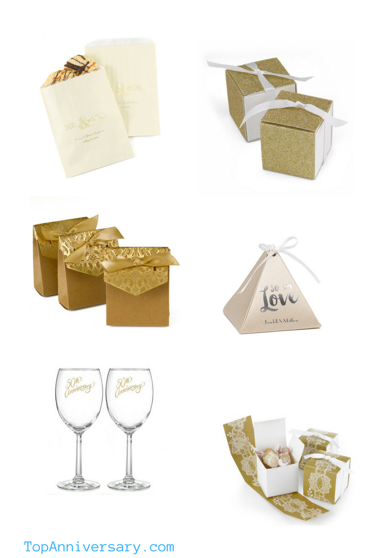 50th Wedding Anniversary Favors that they will love | Love and ...