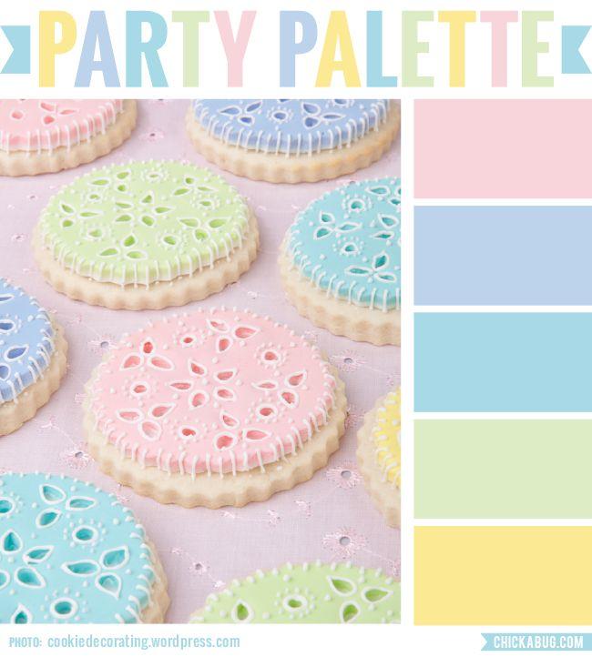 Party Palette: Pastel Eyelet Cookies