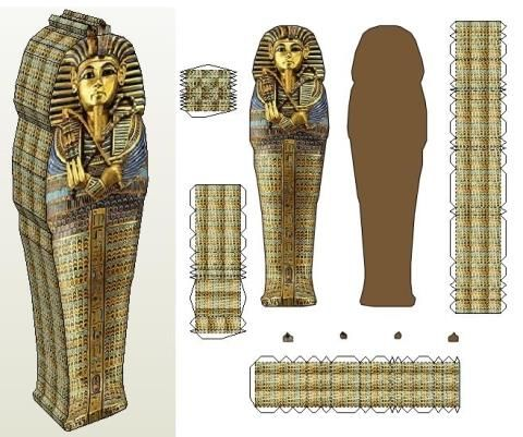 how to make a sarcophagus for a school project