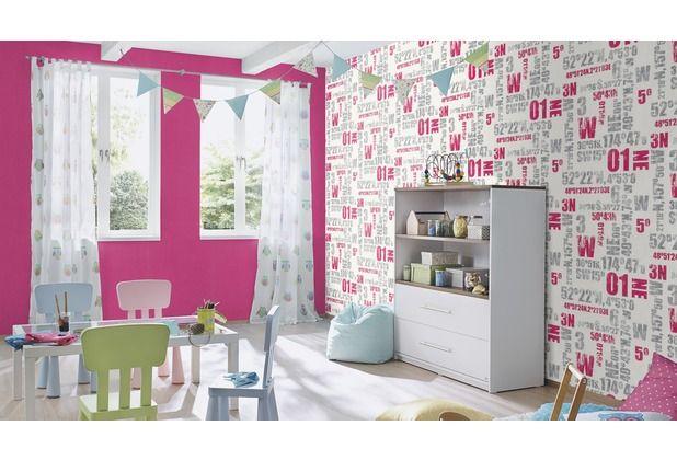 Schönes pinkes Design für das Kinderzimmer #Tapete - schöne tapeten fürs wohnzimmer
