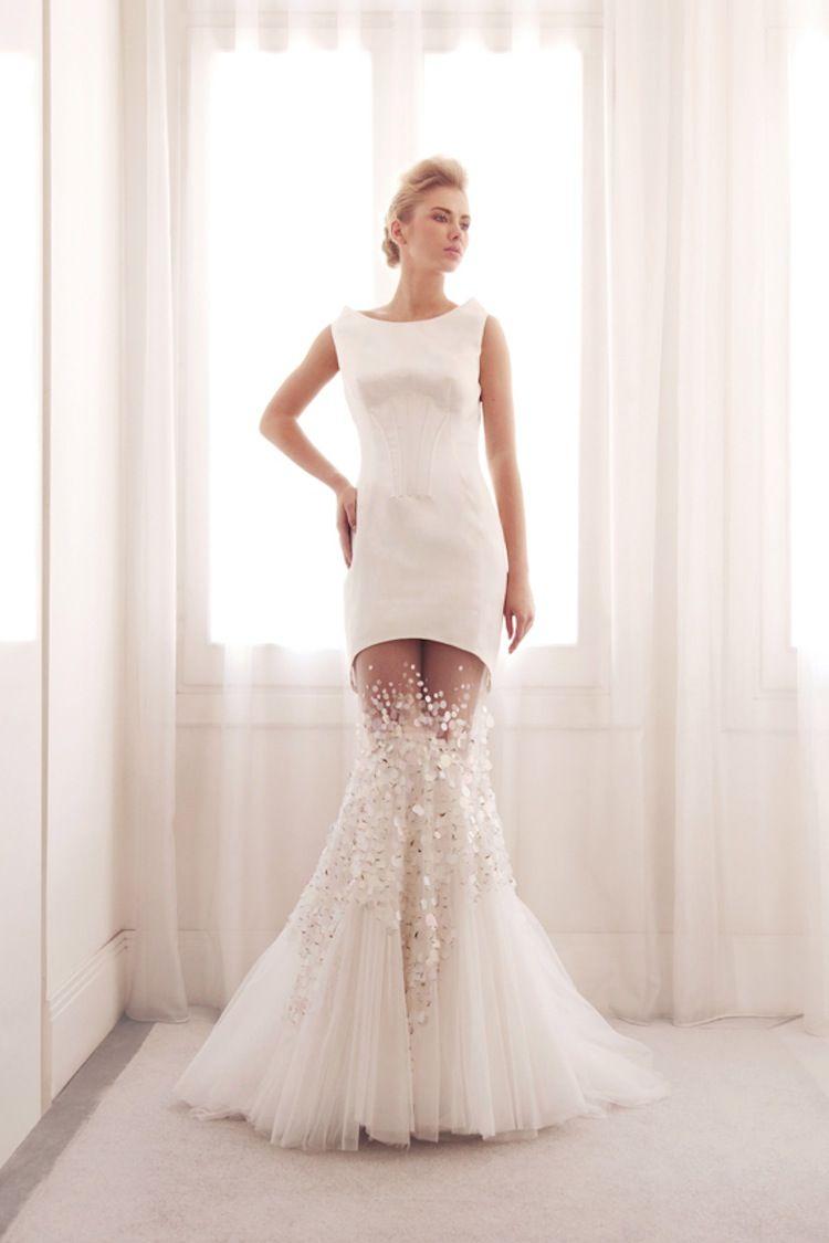 WOWWWW Unique two piece mermaid wedding gown by Gemy Bridal emerging ...