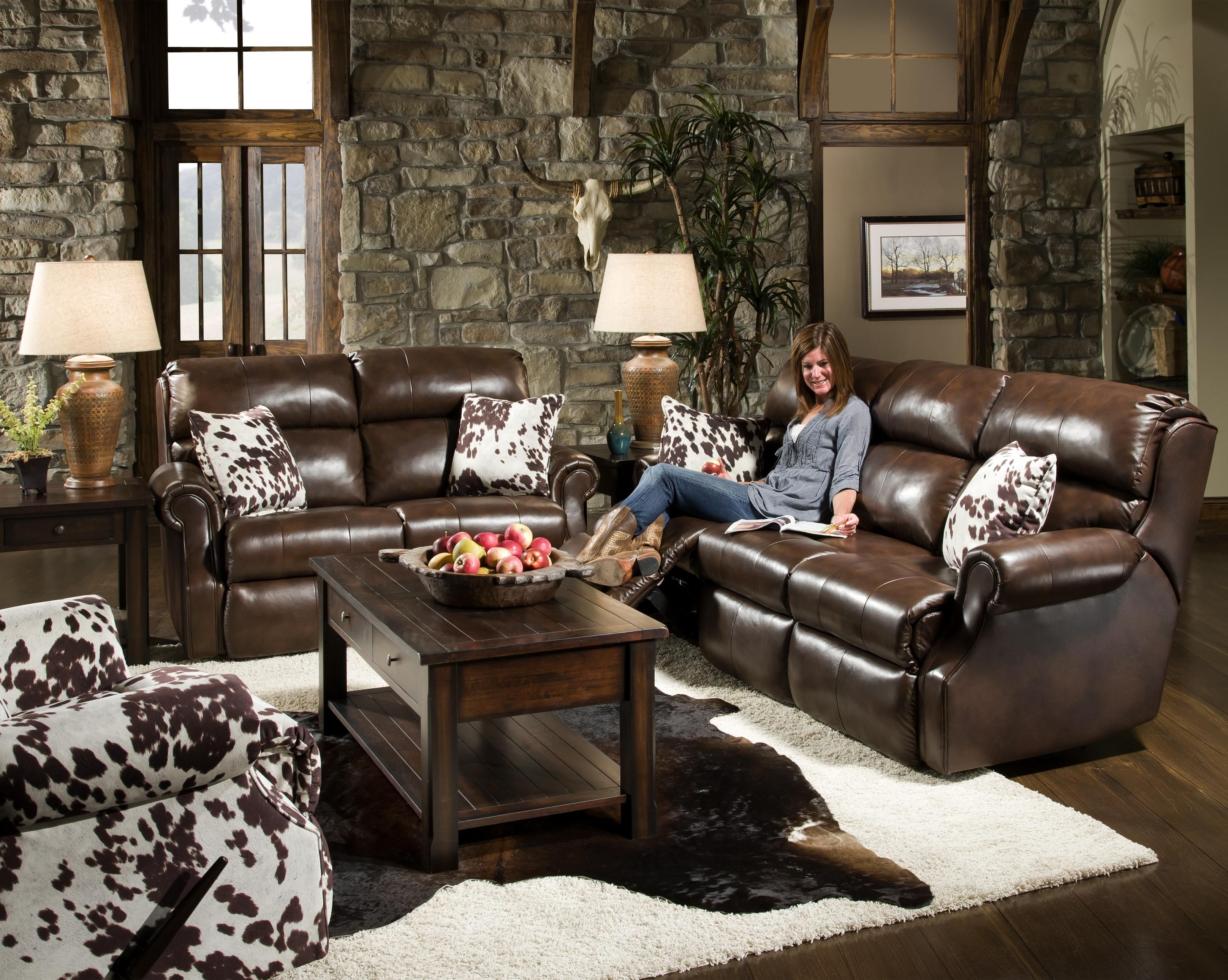 Cape Town Power Double Reclining Loveseat With Traditional