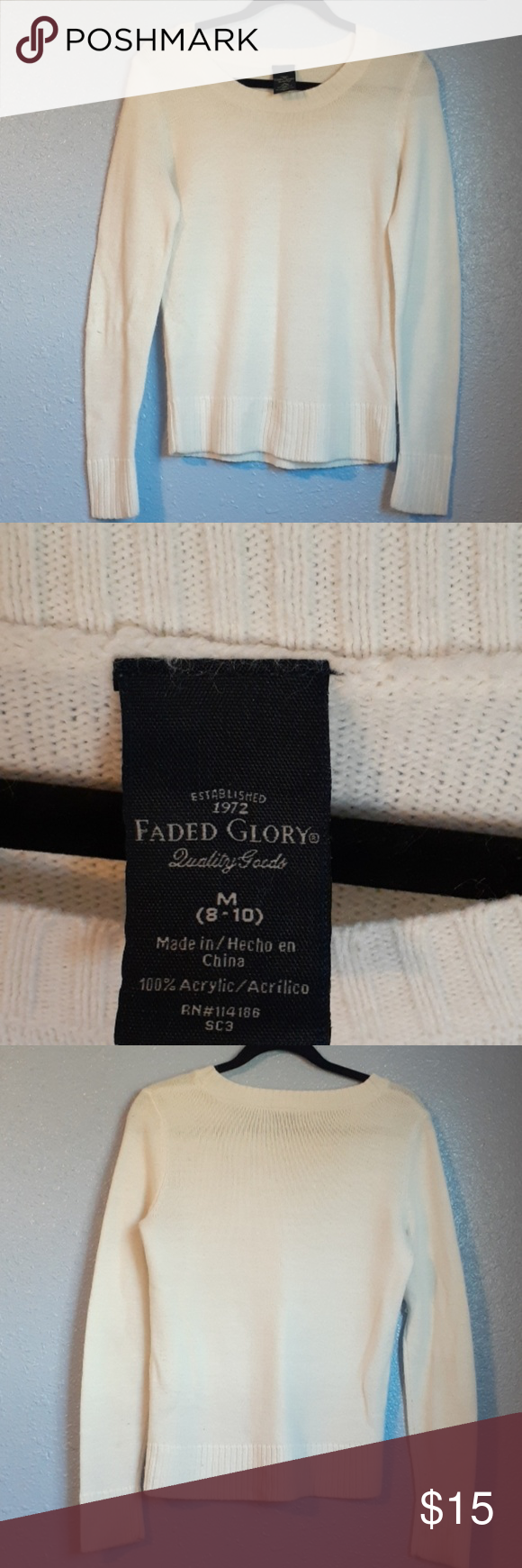 Faded Glory sweater | Faded glory, Sweaters, Sweaters for women