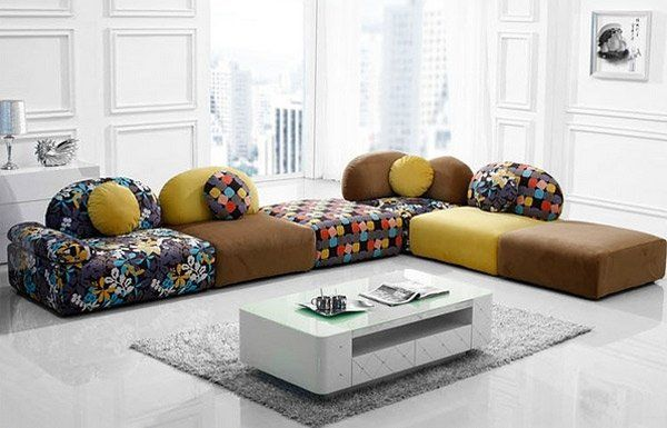 Colorful Low Level Sofa Floor Seating Ideas Sectional Sofa Design