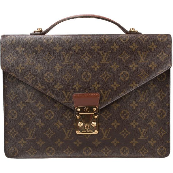 e86f2ebd Pre-Owned Vintage Louis Vuitton Monogram Briefcase ($450) ❤ liked ...