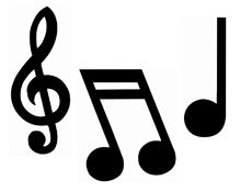 4funparties Com Music Note Cutouts Music Notes Paper Cutout Note Paper