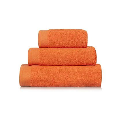 George Home 100 Cotton Towel Range Orange Towels Bath Mats