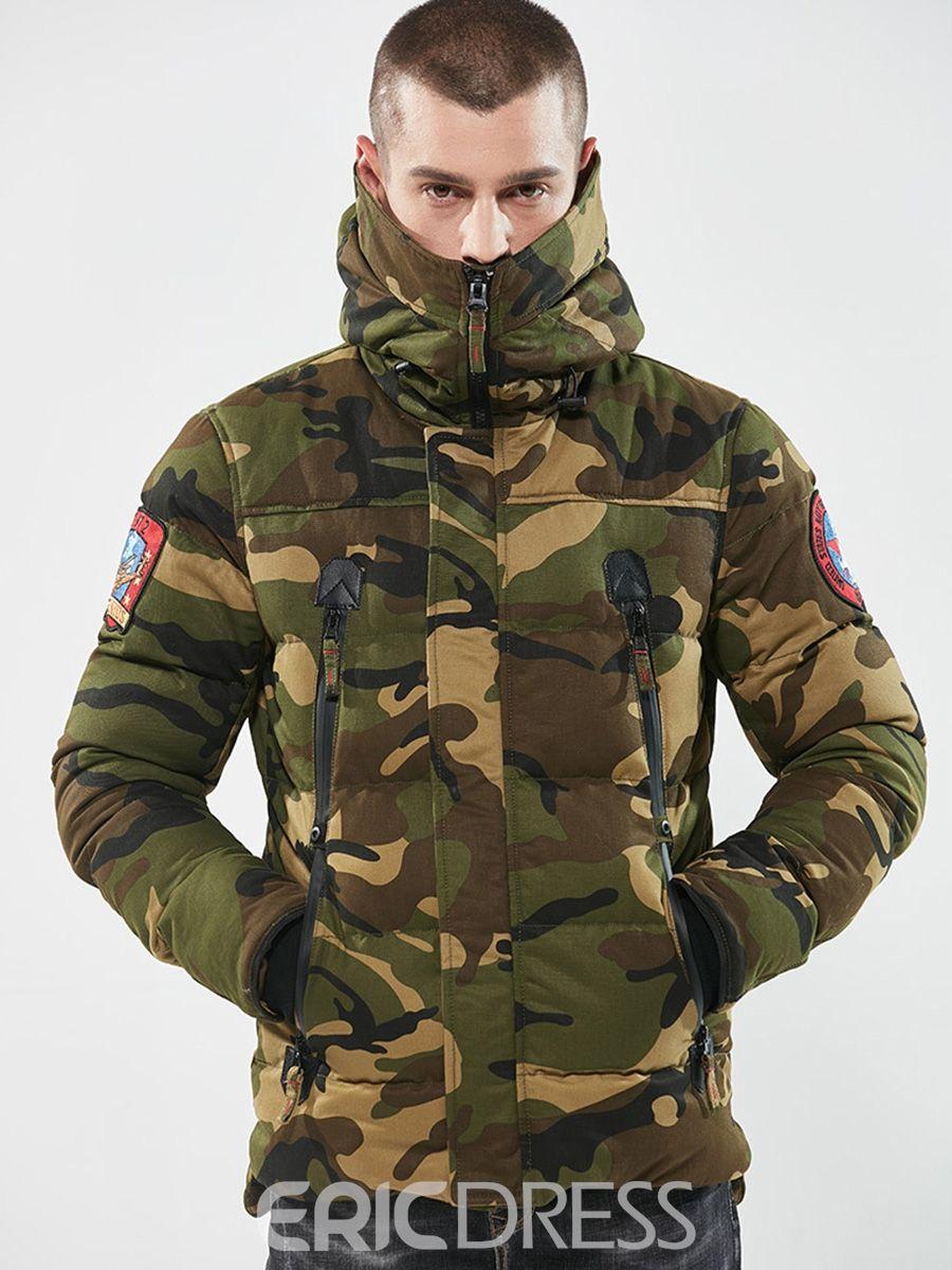 Ericdress Camouflage Zipper Cotton Casual Slim Men S Winter Coat Winter Jacket Men Mens Winter Coat Winter Jackets [ 1200 x 900 Pixel ]