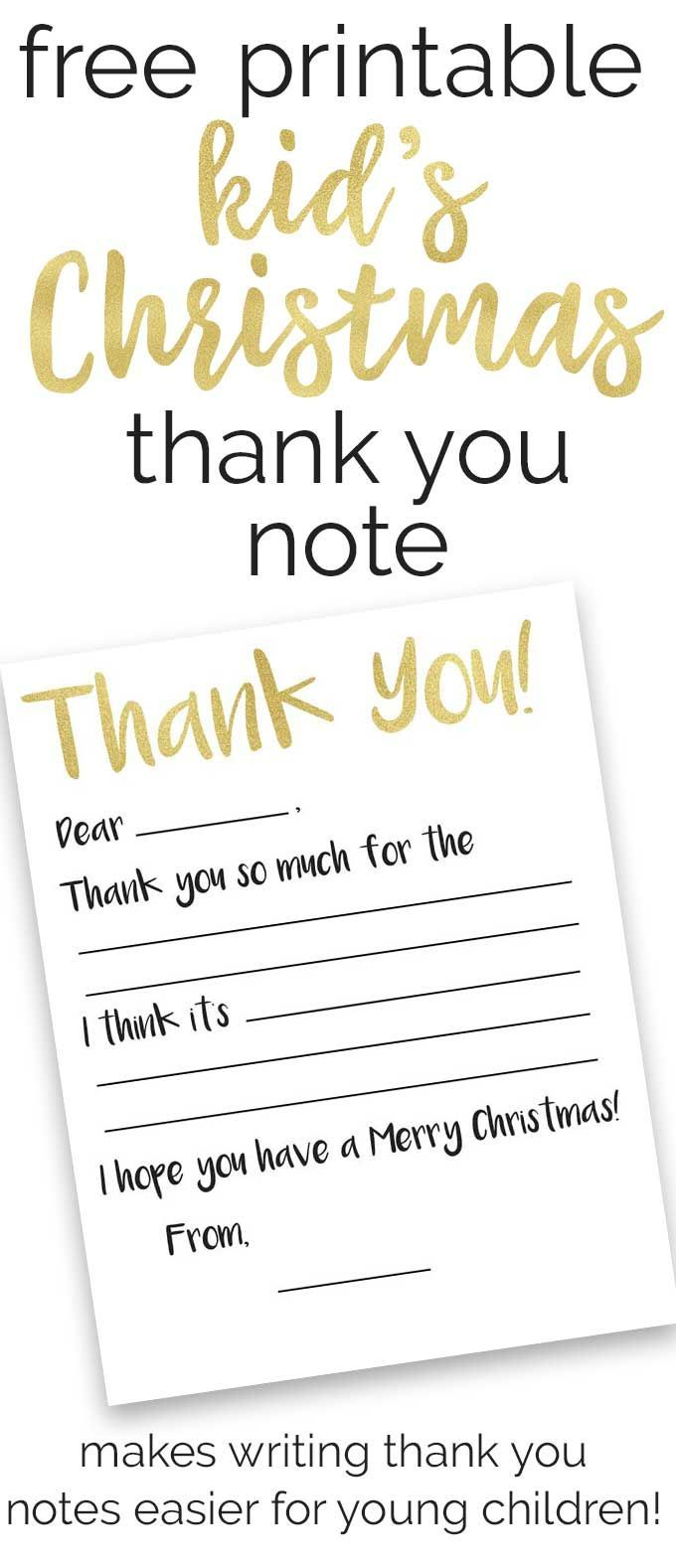 Make Writing Thank You Notes Easier For Young Children With This