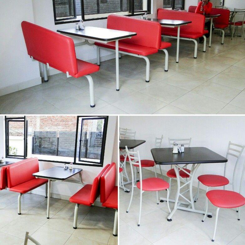 Fresas y Chocolate, comedores incorporados, mesas X, sillas Vicenzo @mueblesleonambato