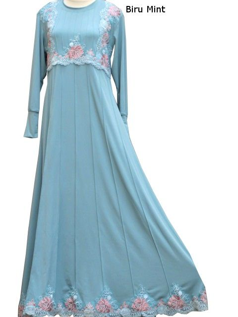 Model Baju Gamis Jersey Offnesel Renda Ulir Ulr4122 Baju Gamis