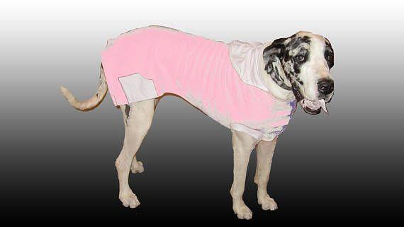3x Great Dane Dog Sweater Vneck Hoodie Sweatshirt Lite Pink N