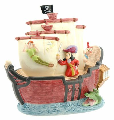 CAPTAIN HOOK'S SHIP COOKIE JAR