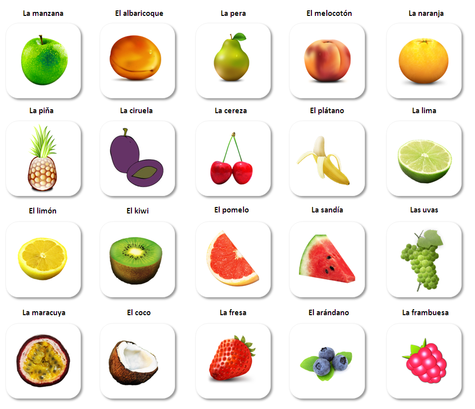 fruit in spanish healthy fruit and veg