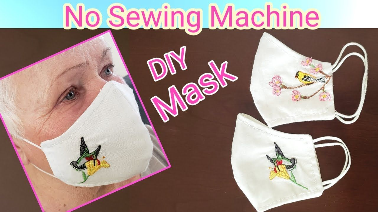 Diy How To Make Fabric Face Mask Step By Step Without Sewing