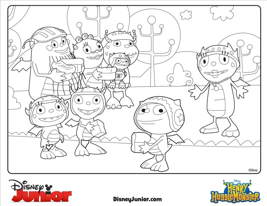 Get Ready For The New Series Henry Hugglemonster On Disney Junior The Channel
