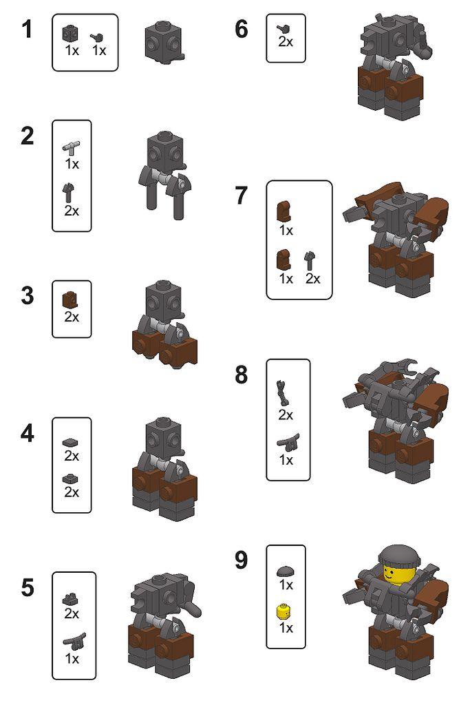 Mini Hardsuit Instructions Lego Stavebn Techniky Pinterest