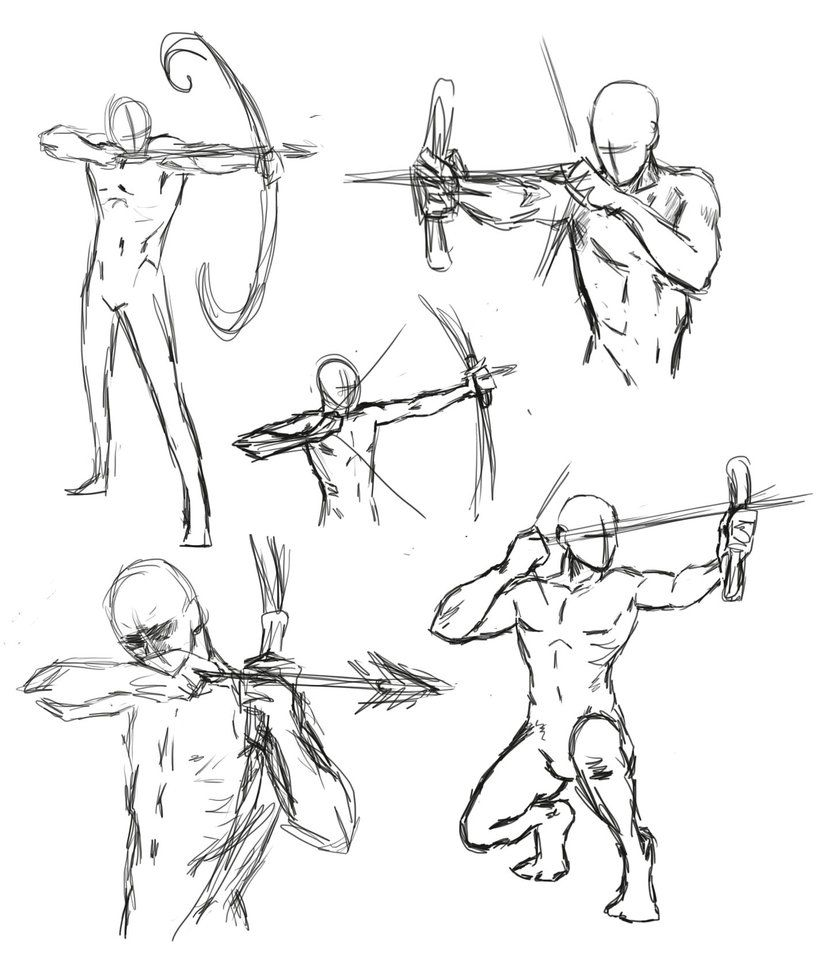 drawing bow poses by *THEAltimate on deviantART | H | Pinterest ...