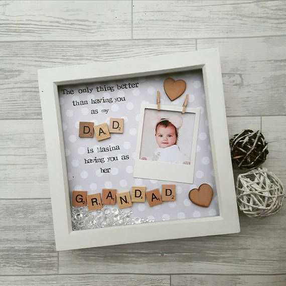 Fathers day Gift, Grandad Frame, Gift For Grandad, Daddy Frame,Present For Daddy, Gift For Dad, Fathers Day Frame, Personalised Gift Grandpa